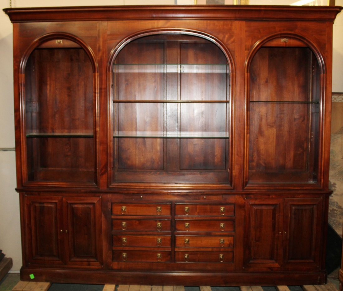 French neo-classical style triple bookcase