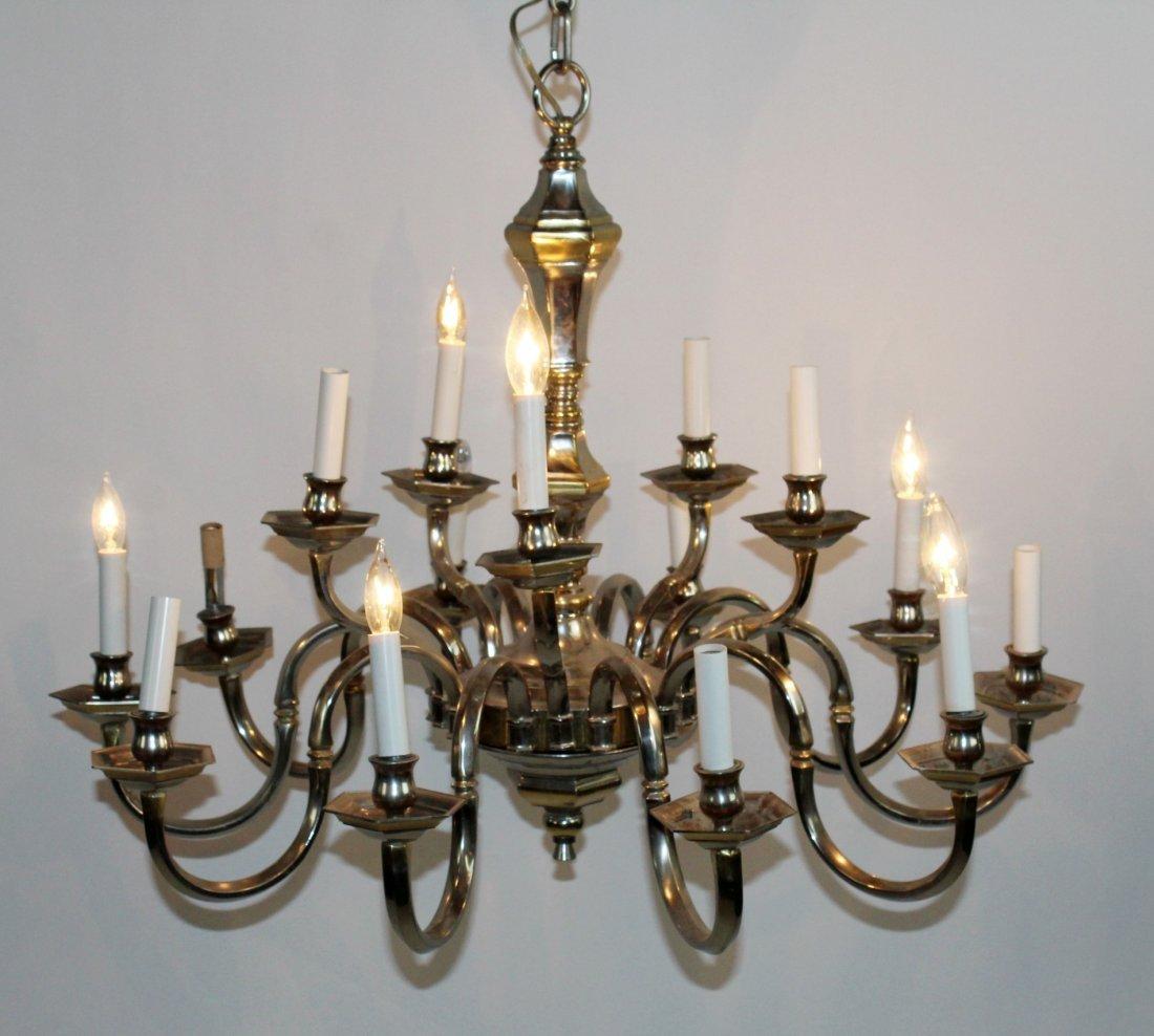 15 arm nickel finish chandelier