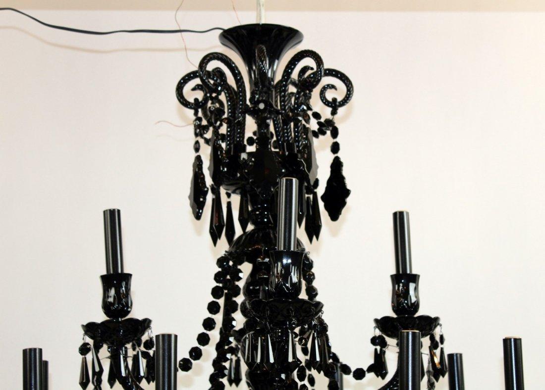 12 arm Modern black glass chandelier - 4