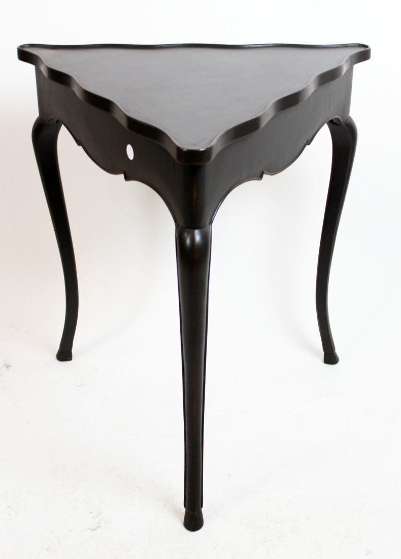 Triangular painted occasional table