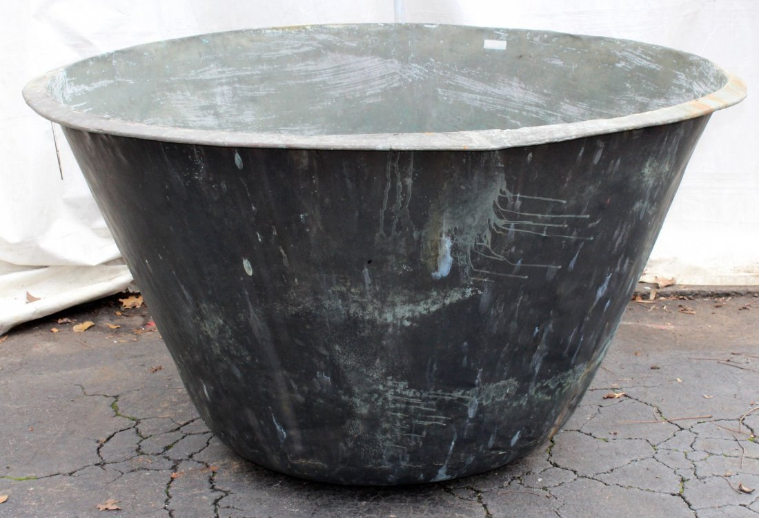 Antique Industrial copper candy or jelly vat