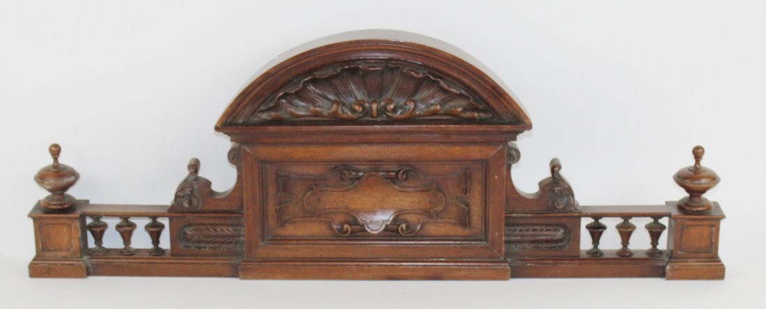French carved walnut overdoor