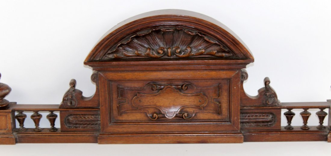 French carved walnut overdoor - 2