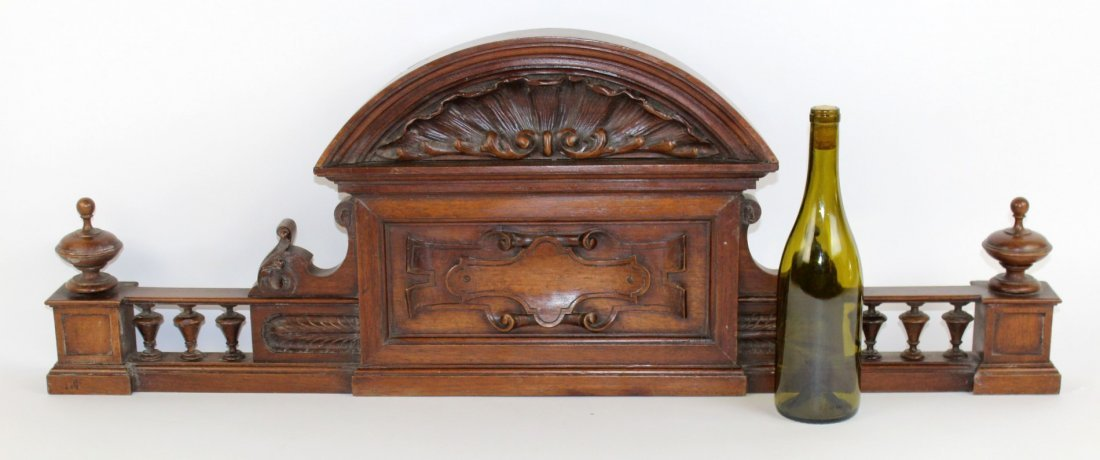 French carved walnut overdoor - 3