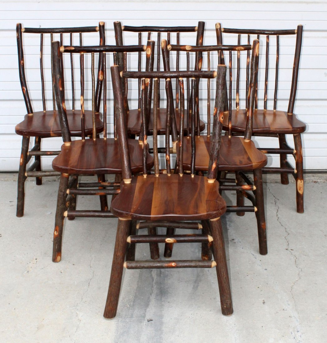 Set of 6 Twig style dining chairs