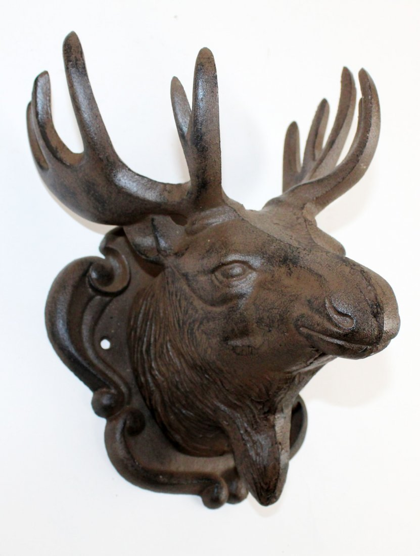 Cast iron moose head mount