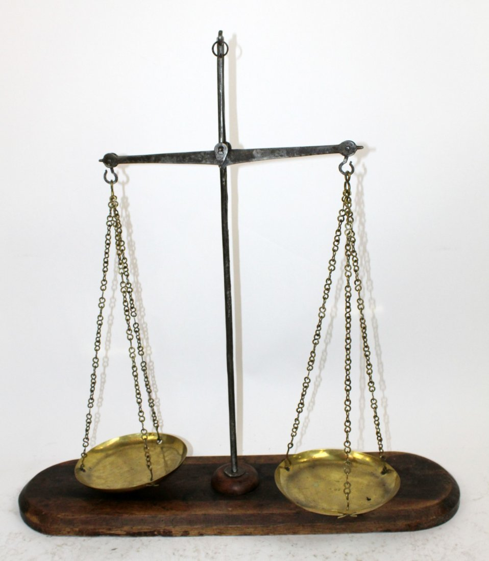 French iron balance scale
