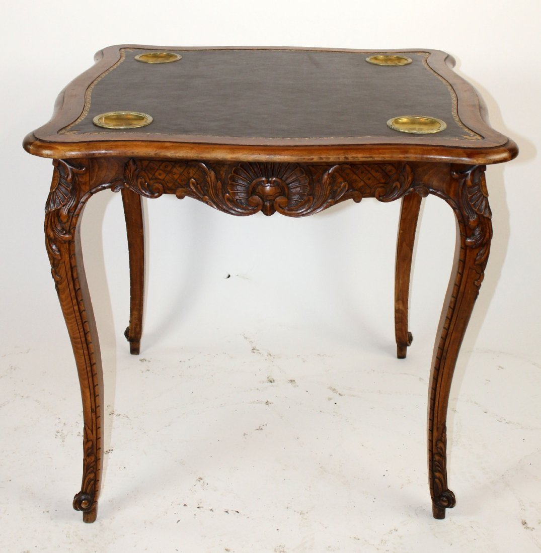 French Louis XV style game table