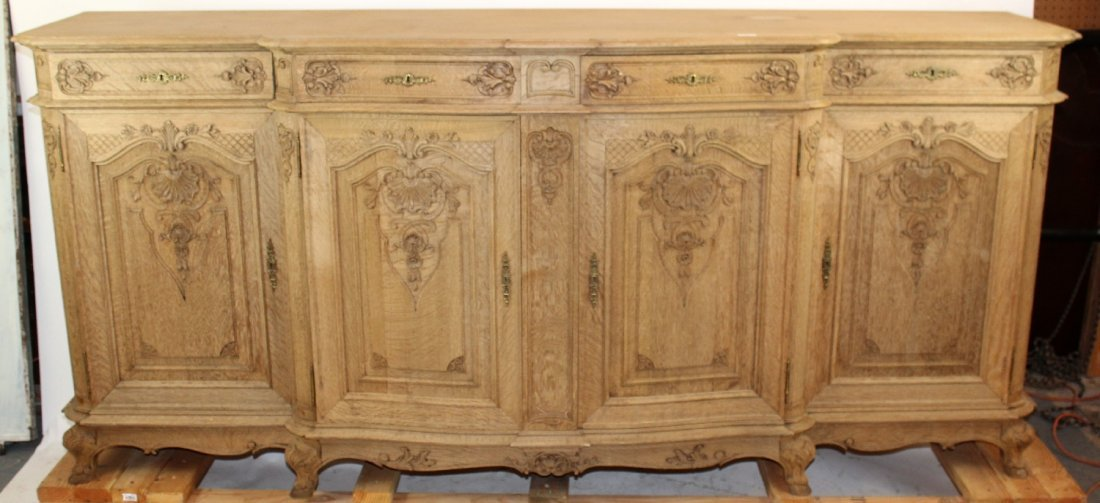 French Regency bleached oak enfilade