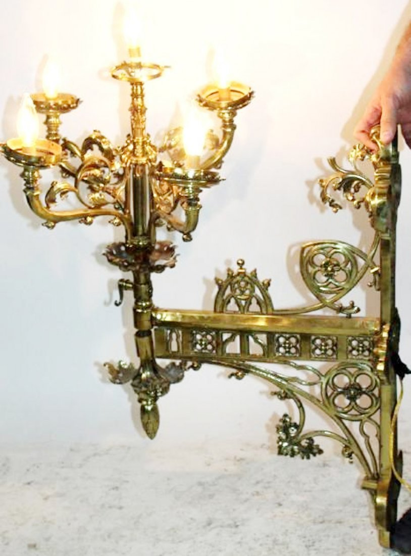 French Gothic 5-light wall sconce
