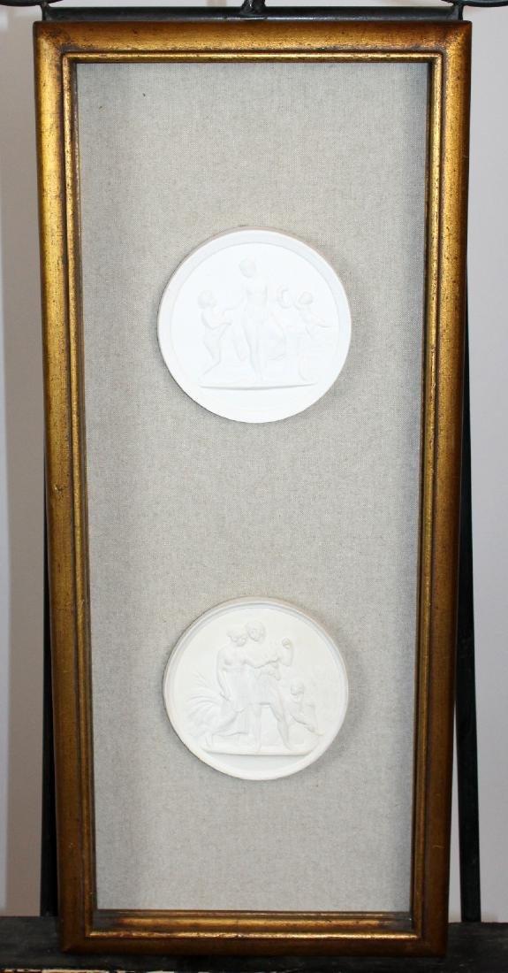 Pair of Italian plaster intaglios