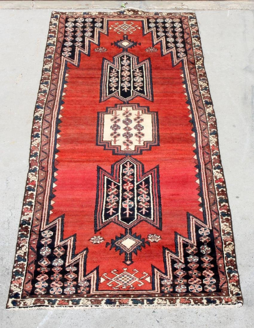 "3'7"" x 9'3"" Mazlaghan wool carpet"