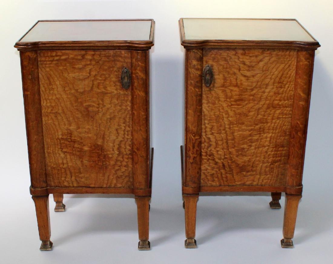 Pair of Art Deco Satinwood nightstands
