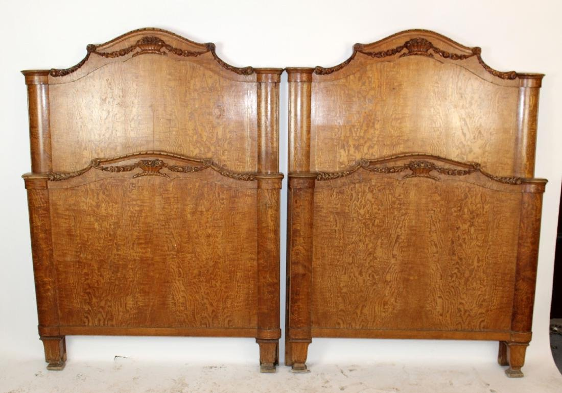 Pair of Art Deco twin beds
