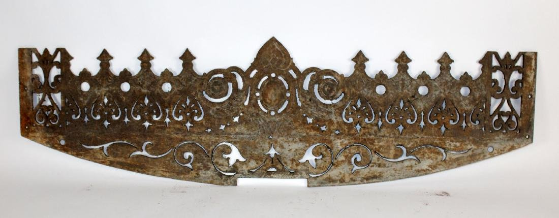 Antique French cast iron architectural frieze