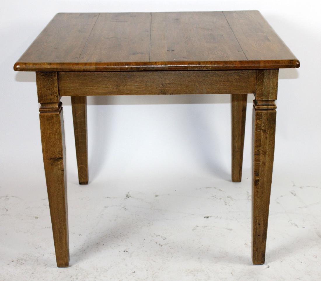 Square oak pub table