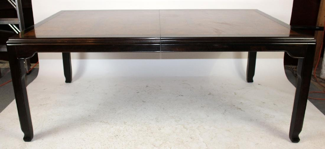 Ming style dining table with burled elm panels