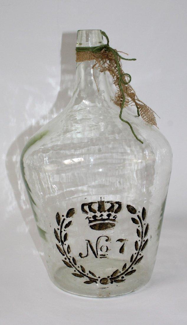 Painted glass demi john bottle