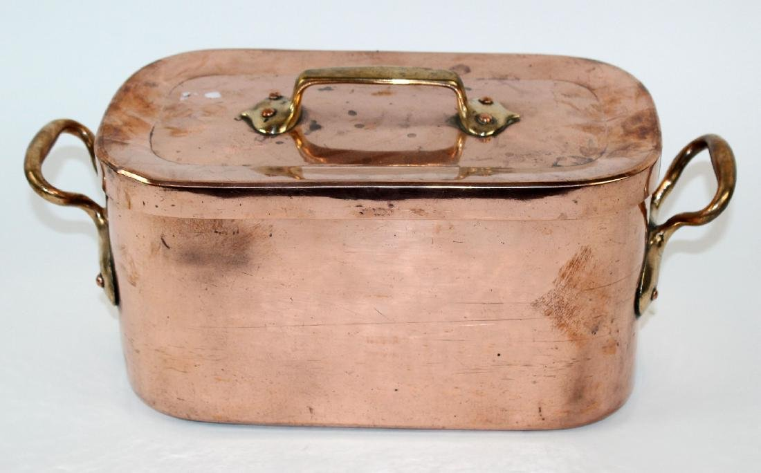 Antique French copper Daubier pan