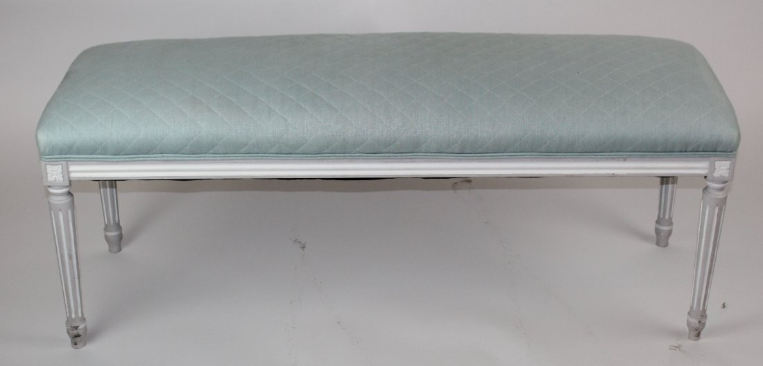 Louis XVI style painted backless bench