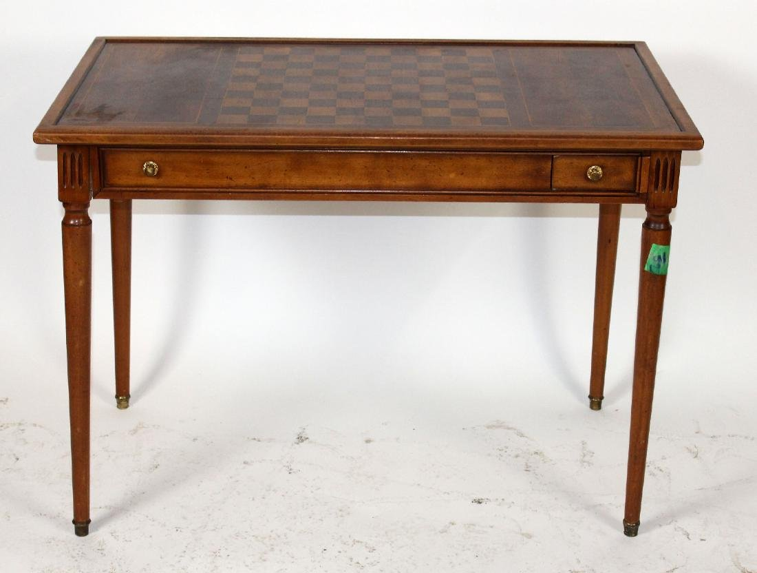 French Louis XVI style game table on tapered legs