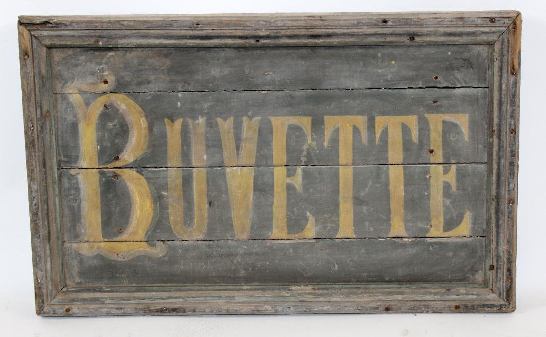 "French painted Buvette ""Bar"" sign"