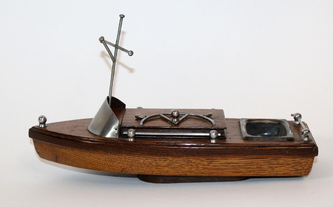 Vintage boat form cigarette holder