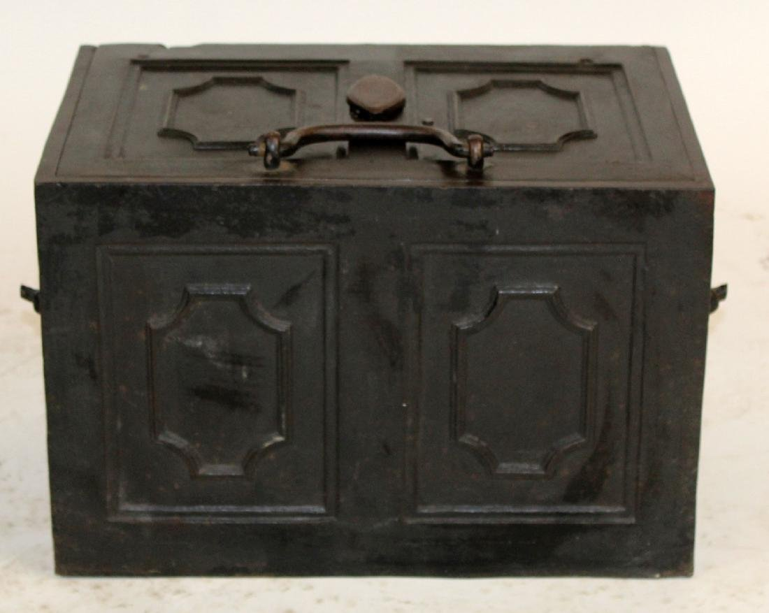 Antique German iron strong box