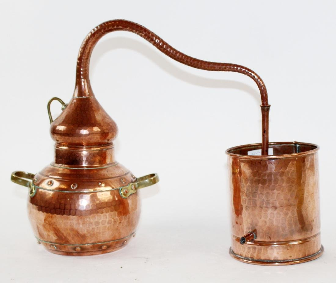Antique French copper still