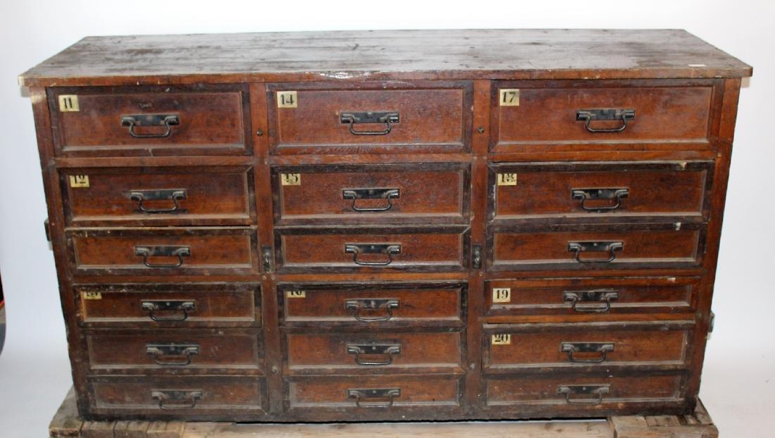 Antique German hardware store cabinet