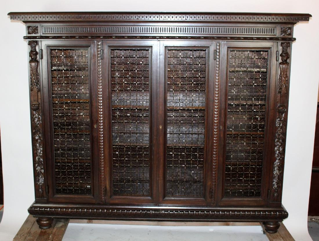 Italian Renaissance style 4 door bookcase
