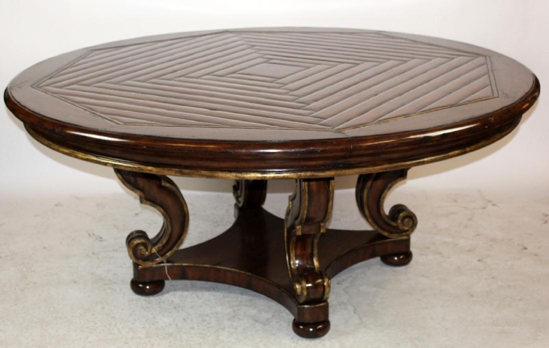 """Henredon Arabesque 72""""  round mahogany dining table"""
