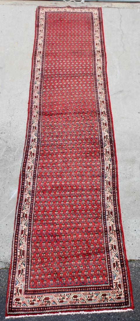 "2'7"" x 13'10"" Persian Saraband wool runner"