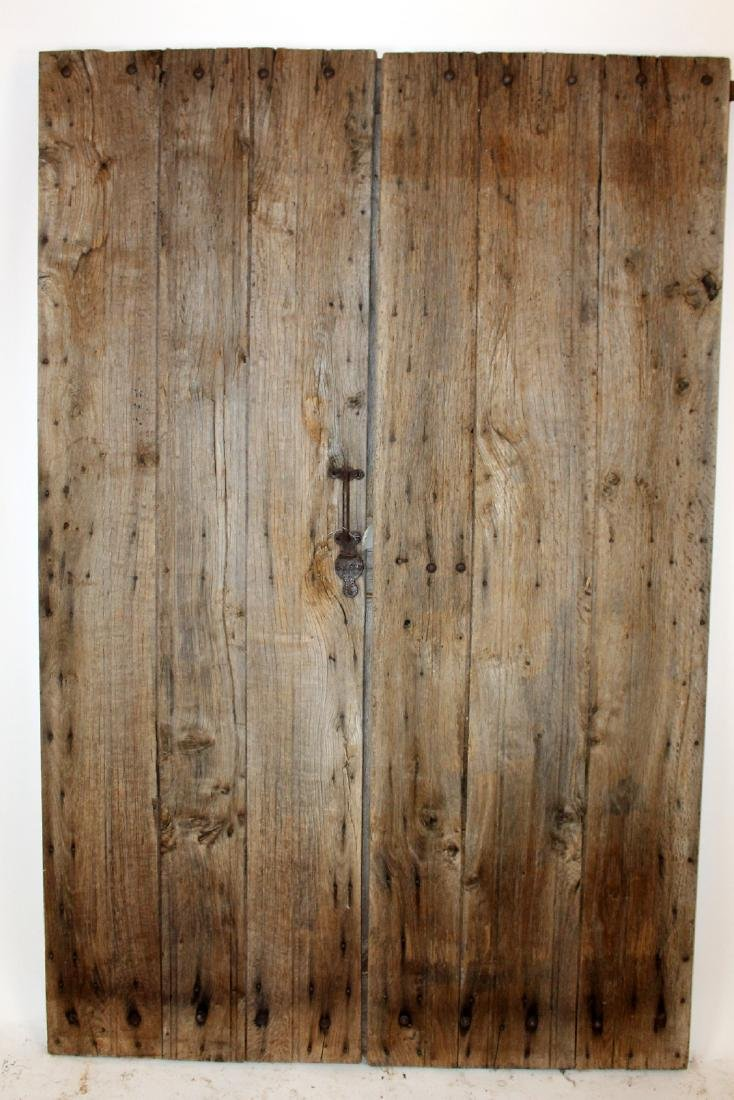 Pair of antique French rustic doors