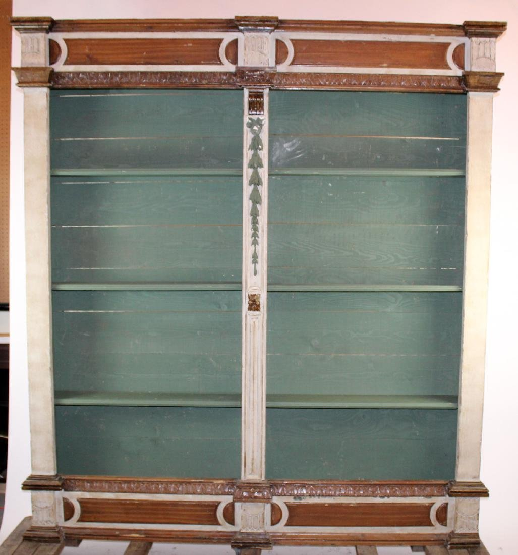 French Napoleon III open bookcase