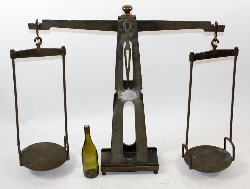 French Ramondou iron balance scale