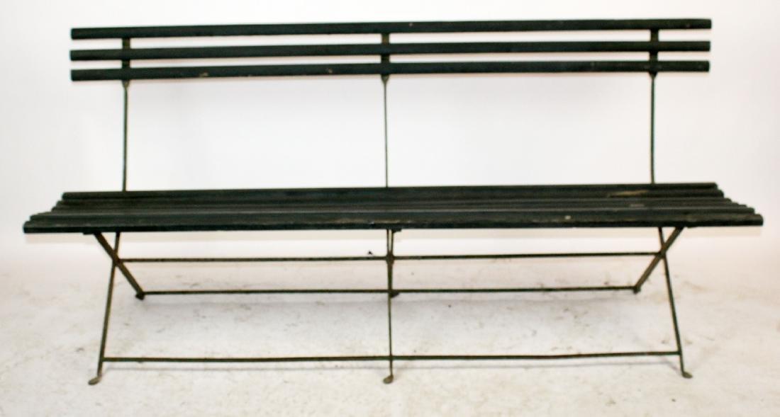 French folding park bench