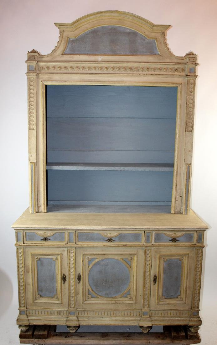 French neo-classical painted bookcase