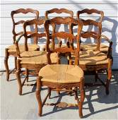 6 French Provincial ladder back chairs