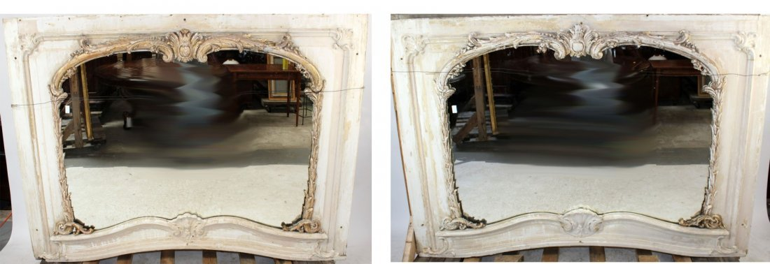 Pair Louis XV mirrors from paneled room