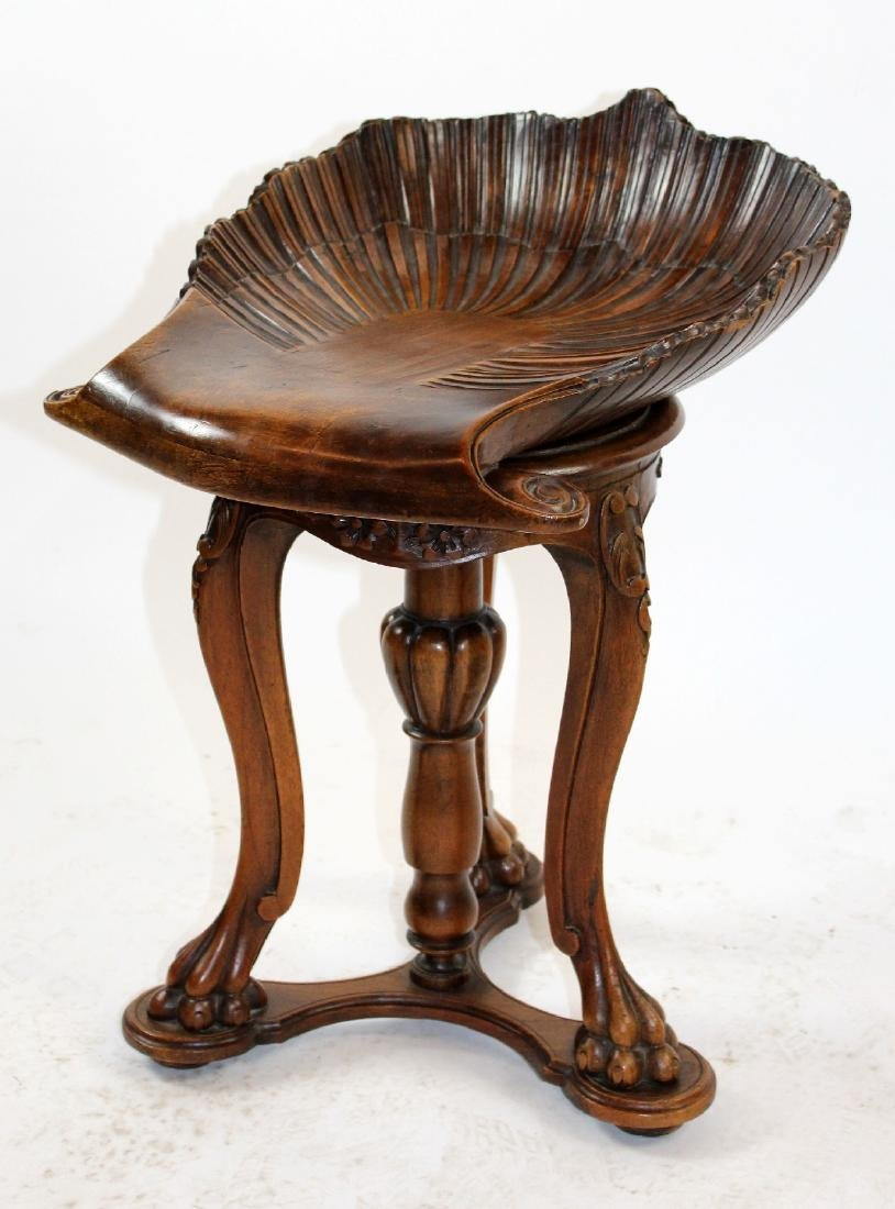 Italian Venetian grotto piano or music stool