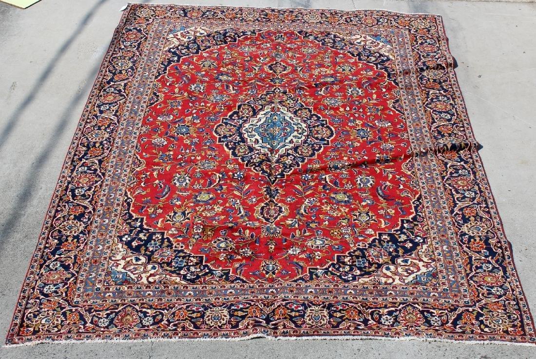 """8' x 11'1"""" Persian Kashan wool carpet"""