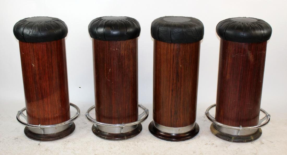 4 Art Deco barstools