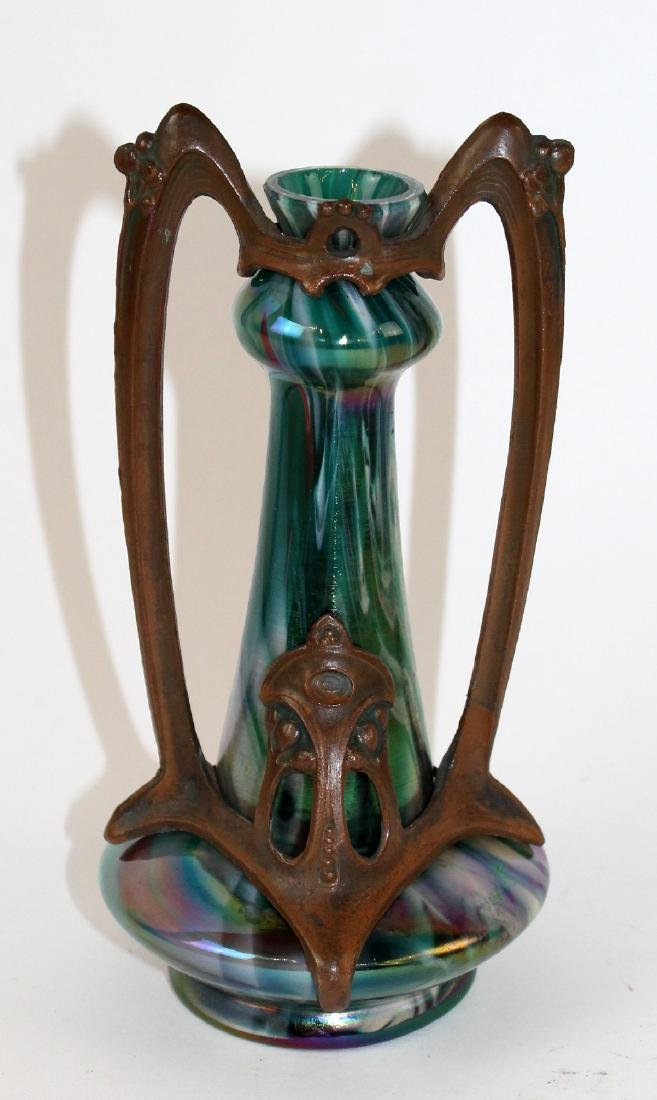 Art Deco Rindskopf art glass vase