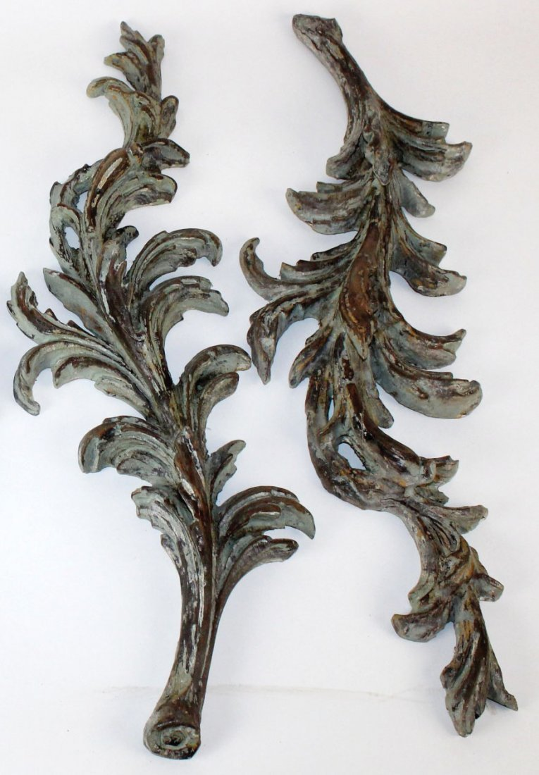Pair of Florentine acanthus leaf fragments