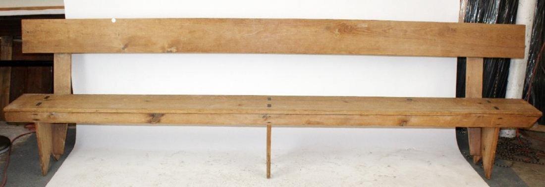 Pine farmhouse bench