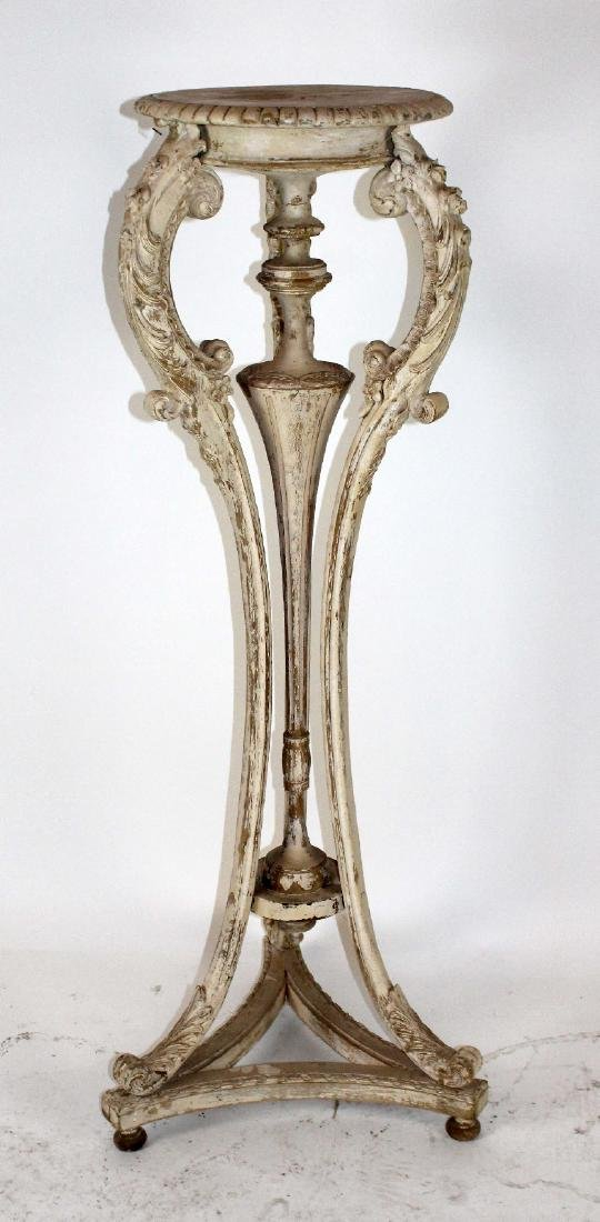 French Louis XVI style painted pedestal