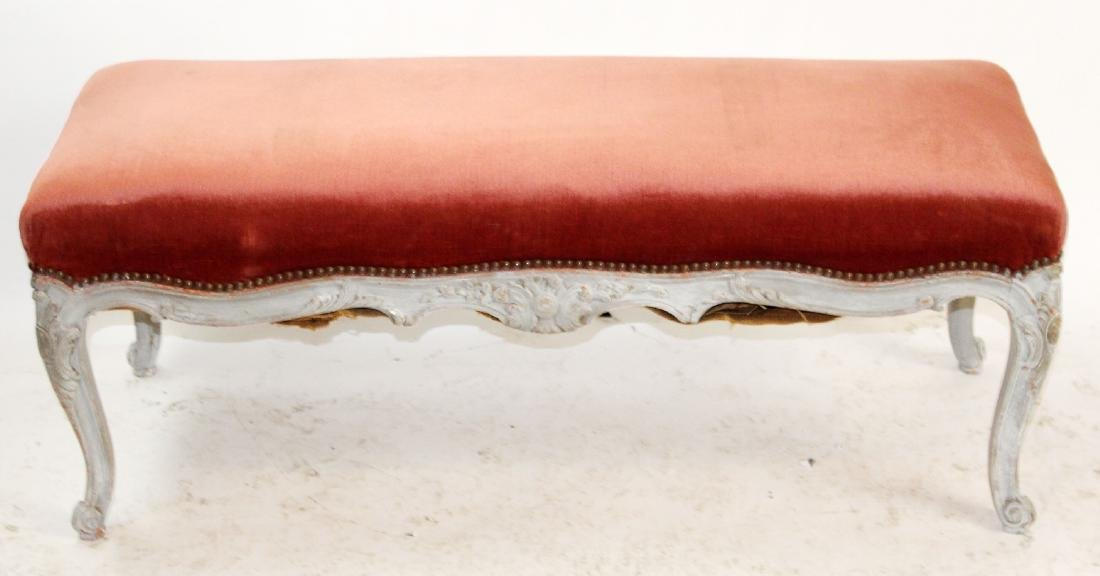 Louis XV style painted bench