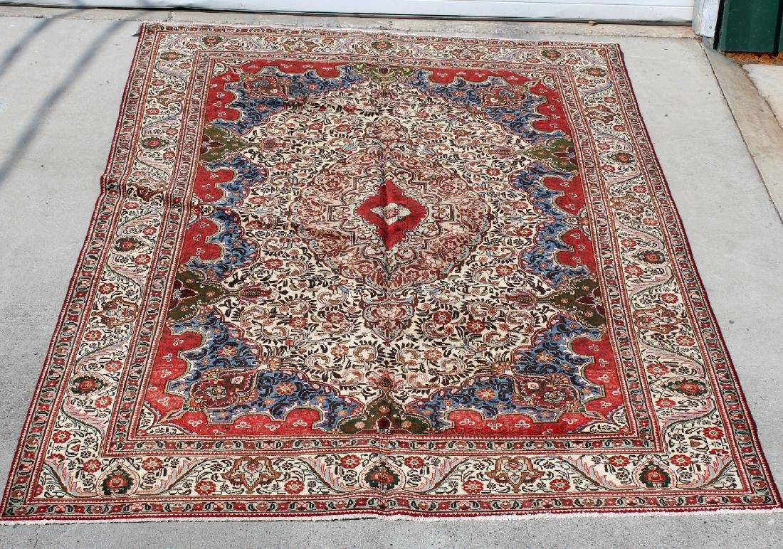 "7'8"" x 10'10"" Persian Tabriz wool carpet"