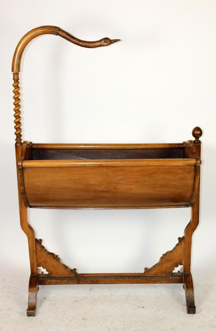 French Empire cradle with swan neck